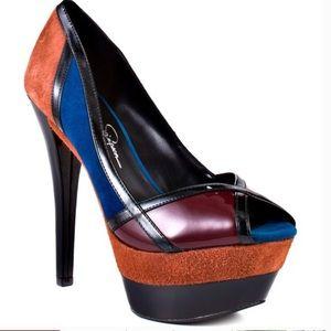 "NWOT- Jessica Simpson Multi-colored ""Match"" pump"